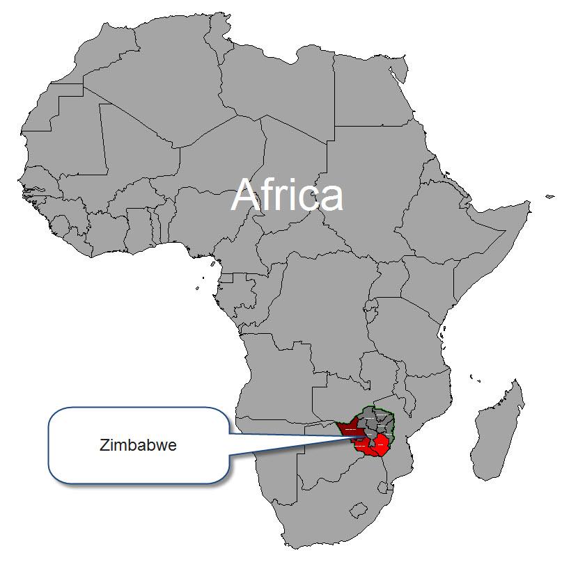 Map Of Africa Zimbabwe   Jackenjuul